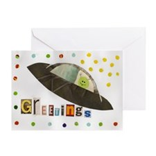Flying Saucer Greeting Cards (Pk of 10)