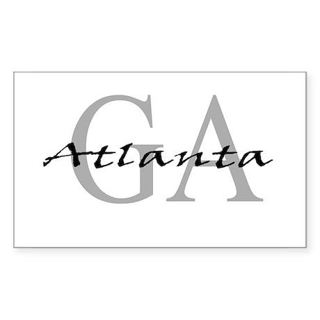 Atlanta thru GA Rectangle Sticker