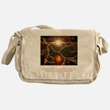 Buddha Candle Quote Messenger Bag