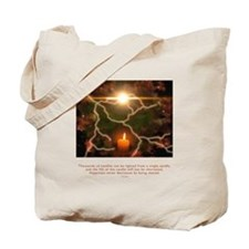 Buddha Candle Quote Tote Bag