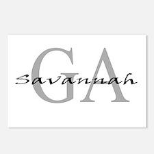 Savannah thru GA Postcards (Package of 8)