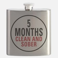 5 Months Clean and Sober Flask