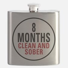 8 Months Clean and Sober Flask