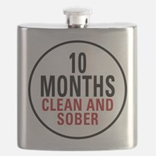 10 Months Clean and Sober Flask