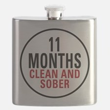 11 Months Clean and Sober Flask