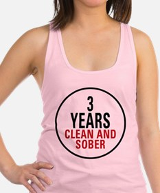 3 Years Clean and Sober Racerback Tank Top