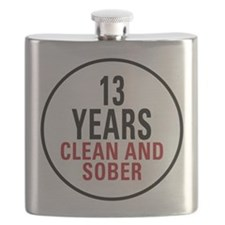 13 Years Clean and Sober Flask