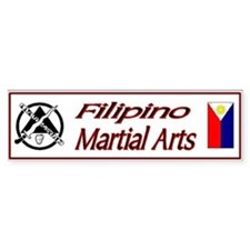 Filipino Martial Arts Bumper Car Sticker