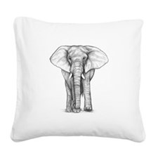 elephant 2 pi.png Square Canvas Pillow