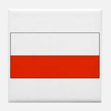 Poland Polish Blank Flag Tile Coaster