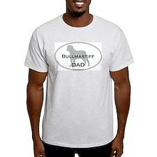 Bullmastiff DAD Ash Grey T-Shirt