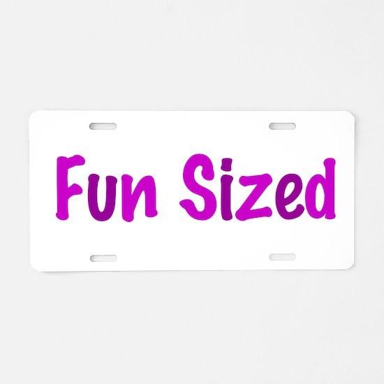 Fun Sized Aluminum License Plate