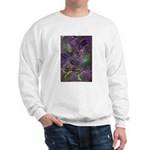 Sweatshirt with mystical dragonflies