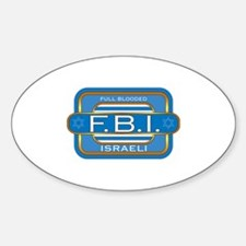Full Blooded Israeli Oval Decal