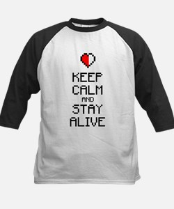 Keep calm stay alive 2c Kids Baseball Jersey