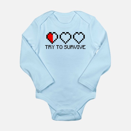 Try to survive 2c Long Sleeve Infant Bodysuit