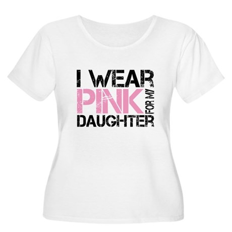 I wear pink for my daughter Women's Plus Size Scoo