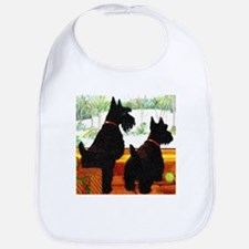 A Scottie Christmas Bib