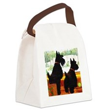 A Scottie Christmas Canvas Lunch Bag