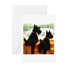 A Scottie Christmas Greeting Card