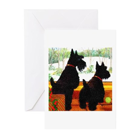 A Scottie Christmas Greeting Cards (Pk of 20)