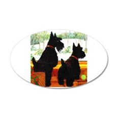 A Scottie Christmas Wall Decal