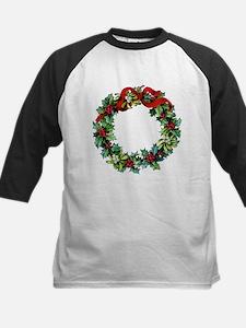 Holly Christmas Wreath Tee