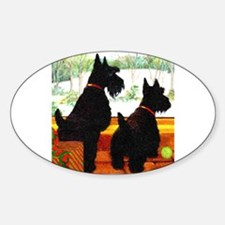 A Scottie Christmas Sticker (Oval)