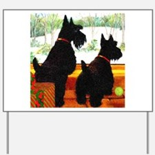 A Scottie Christmas Yard Sign