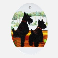 A Scottie Christmas Ornament (Oval)