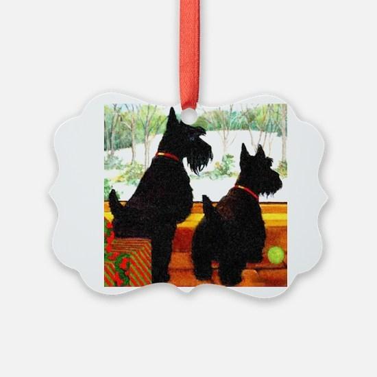 A Scottie Christmas Ornament