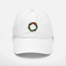 Holly Christmas Wreath Baseball Baseball Cap
