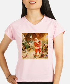 Santa in the North Pole St Performance Dry T-Shirt