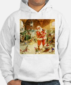 Santa in the North Pole Stables Hoodie
