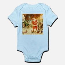 Santa in the North Pole Stables Infant Bodysuit