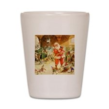 Santa in the North Pole Stables Shot Glass