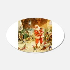 Santa in the North Pole Stab Wall Decal