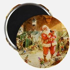 Santa in the North Pole Stables Magnet