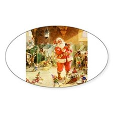 Santa in the North Pole Stables Decal