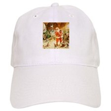 Santa in the North Pole Stables Baseball Cap