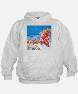Santa Up On the Rooftop Hoodie