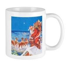 Santa Up On the Rooftop Mug