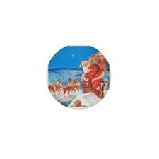 Santa Up On the Rooftop Mini Button (100 pack)