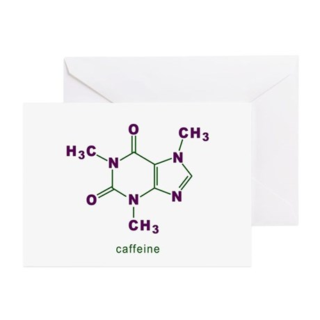 Caffeine Molecule Greeting Cards (Pk of 10)