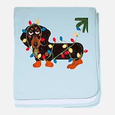 Dachshund (Blk/Tan)... baby blanket