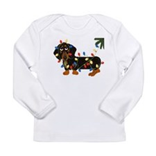 Dachshund (Blk/Tan)... Long Sleeve Infant T-Shirt