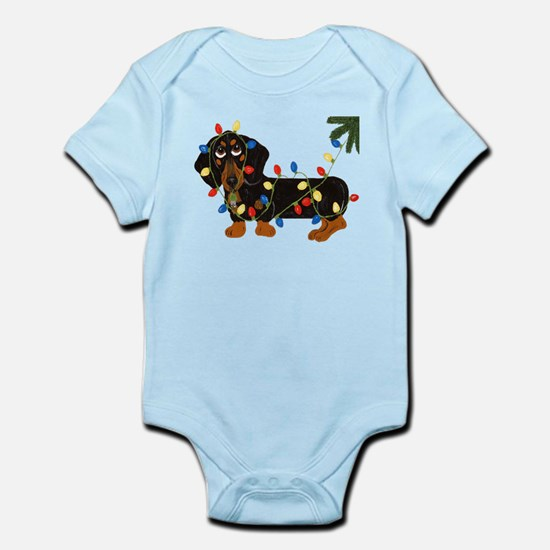 Dachshund (Blk/Tan)... Infant Bodysuit
