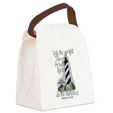 Cross Stitch Style Cape Hatteras Canvas Lunch Bag
