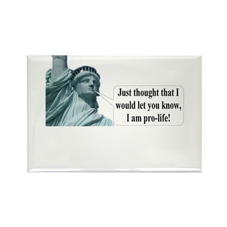 Anti Abortion Rectangle Magnet (100 pack)