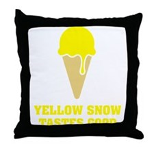 Yellow snow tastes good - Ice Cream No.3 Throw Pil